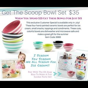 Thirty One Get the Scoop Bowl Set